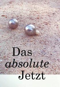 """Titelseite der Geschichtensammlung """"Das absolute Jetzt"""""""
